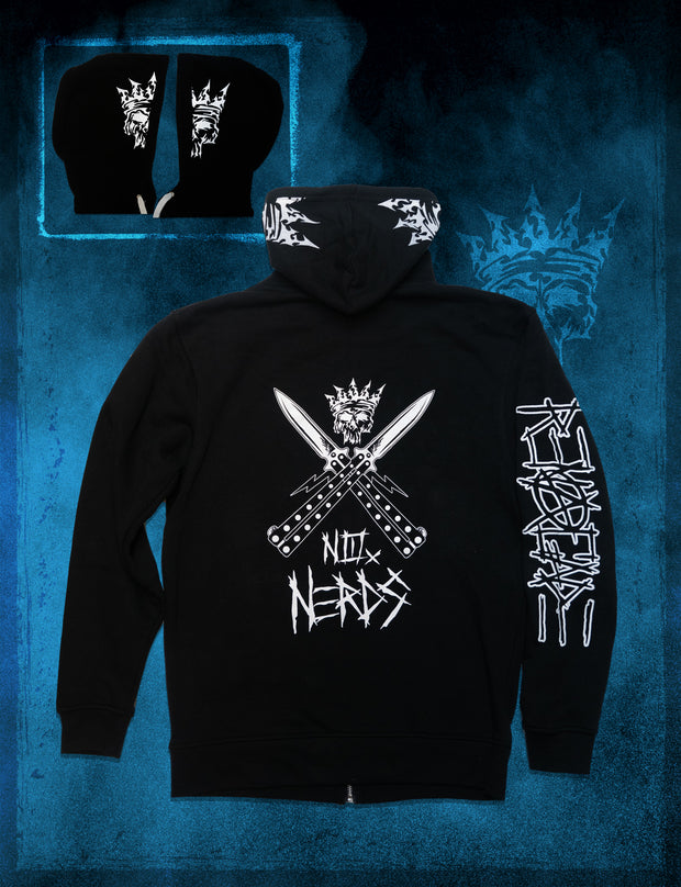 No Nerds Zip-Up Hoodie