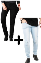 Laden Sie das Bild in den Galerie-Viewer, 2 x Die Perfekte Jeans: Light Blue + Black