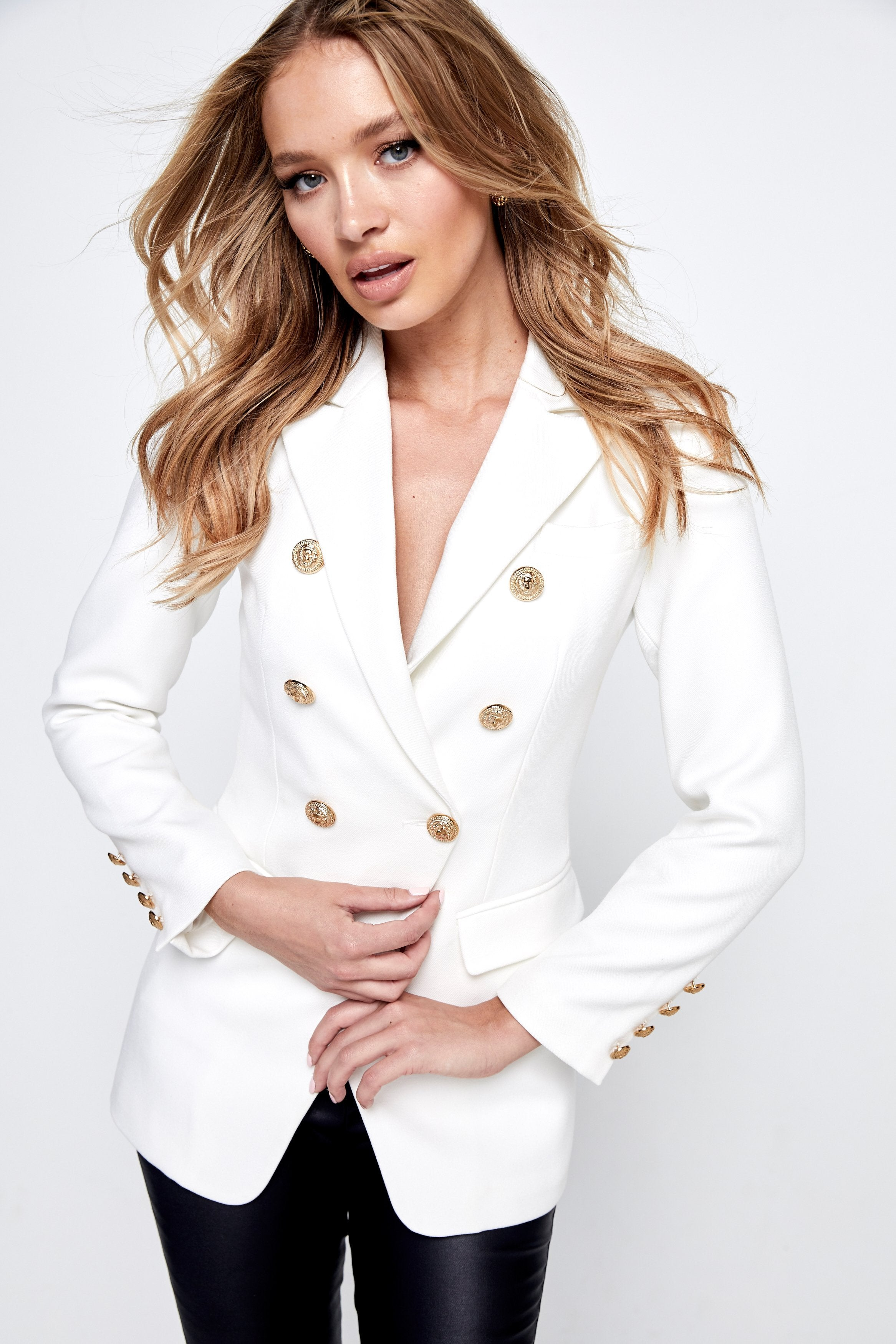 The Signature Blazer White