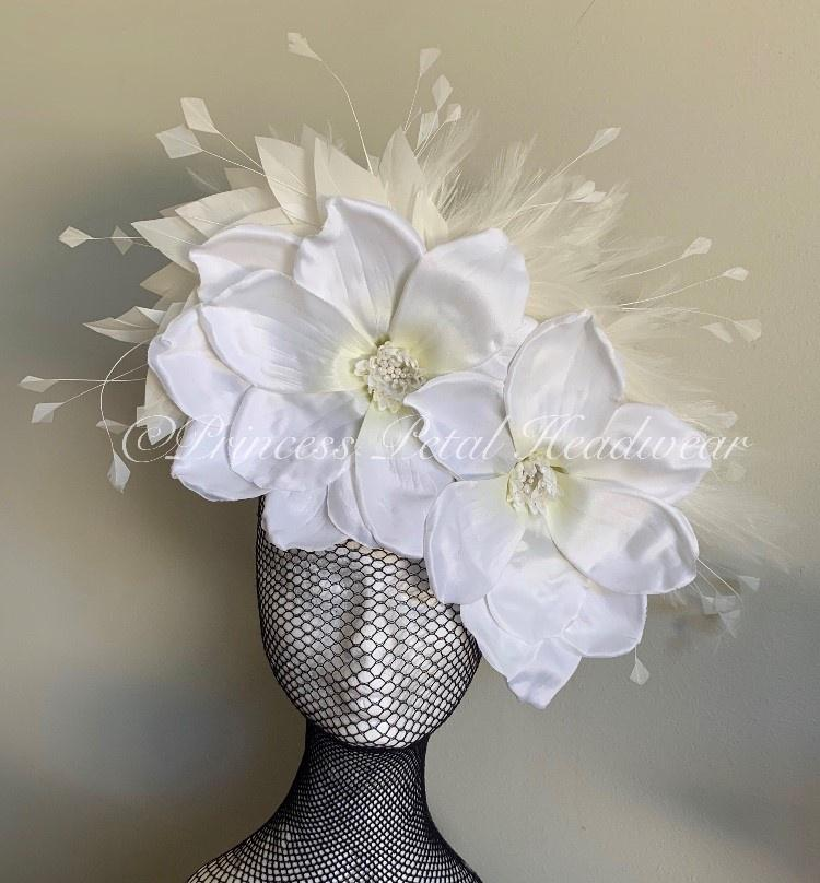 White Magnolia Fascinator