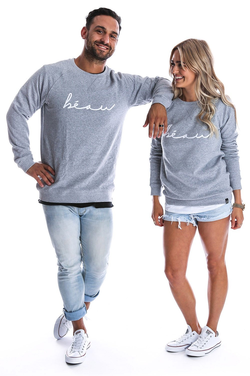 crew neck sweater with unisex fit