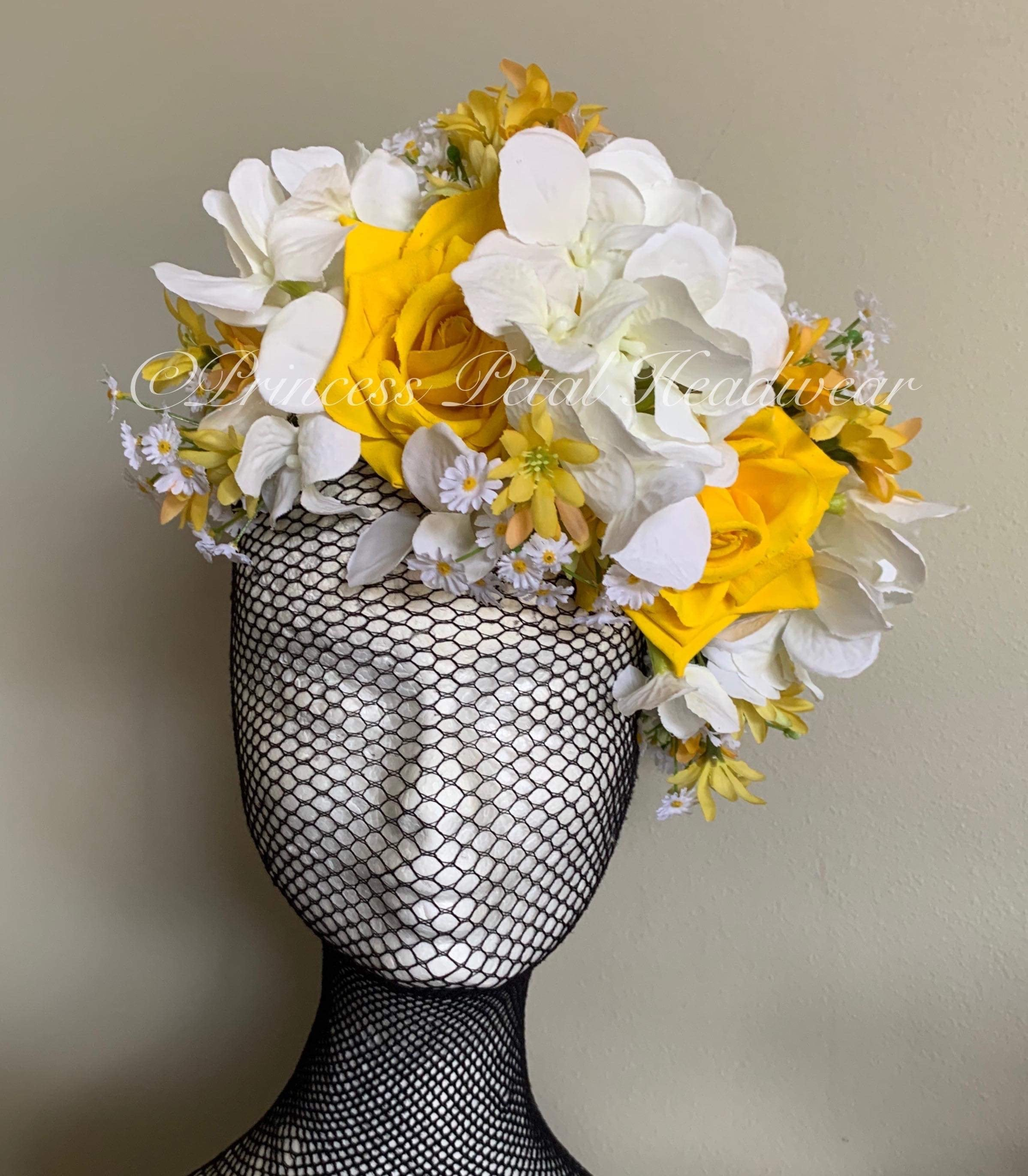 Yellow & White Daisy Fascinator