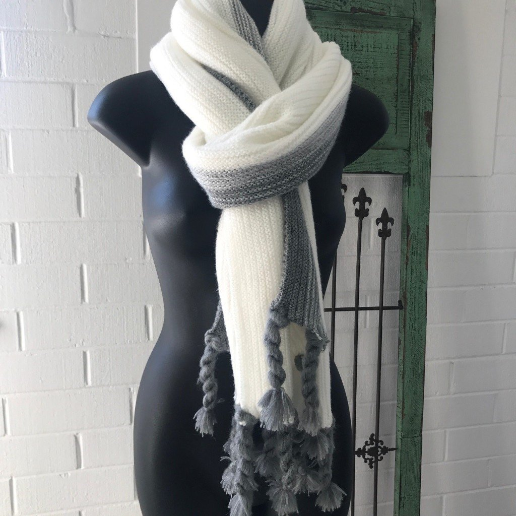 Grey & Cream Scarf