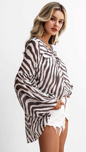 Zebra Striped Blouse