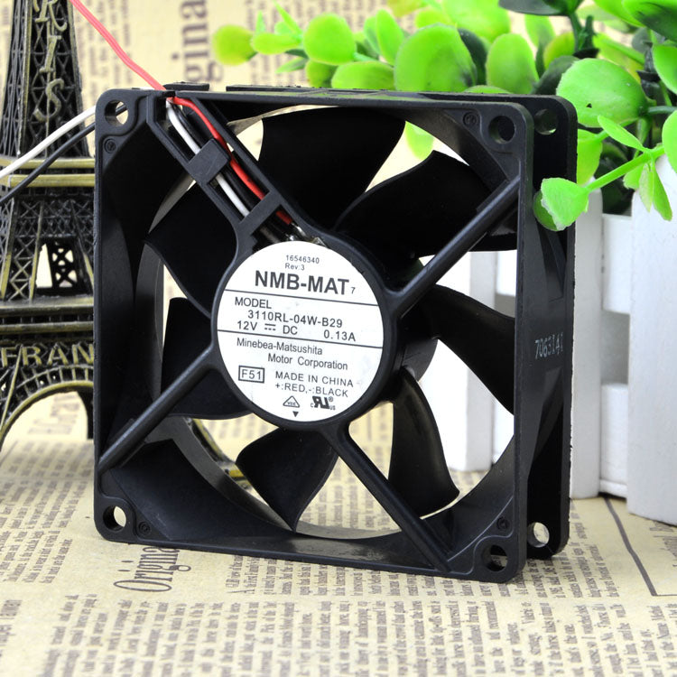 For 3110RL-04W-B29 12VDC 0.13A Original Meiya NMB 80*80*25MM Axial Fan - ebowsos