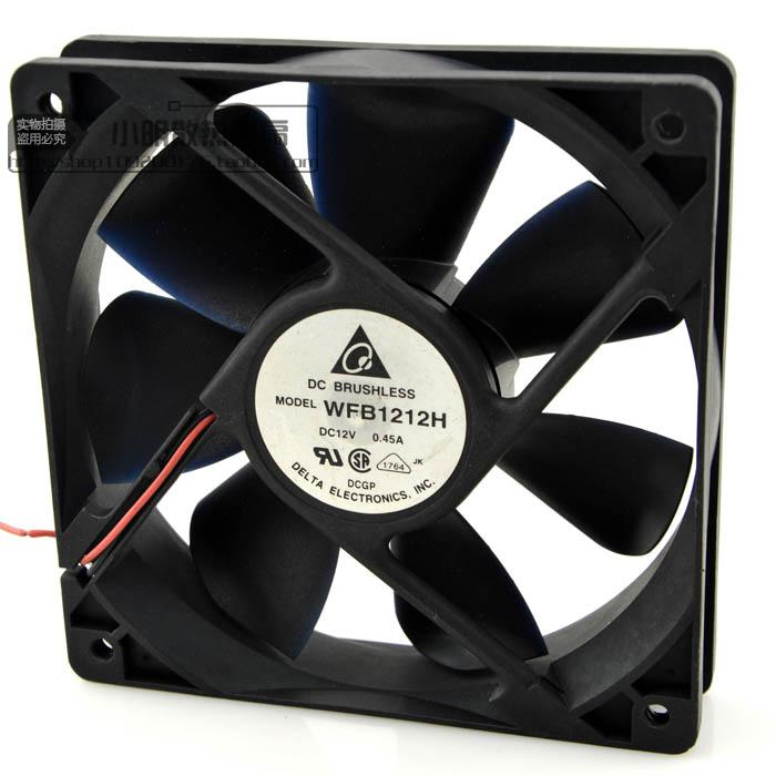 For Delta 12025 12V 0.45A WFB1212H 12cm mining machine chassis cooling equipment fan - ebowsos