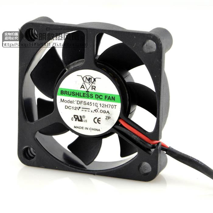 For 4510 12V 45mm oil bearing 4.5CM cooling fan dfs4510 12h70t industrial fan - ebowsos