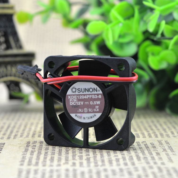 For Jianquan SUNON KDE1204PFS3-8 12V 0.5W 4CM 4010 40*40*10 2-wire fan - ebowsos
