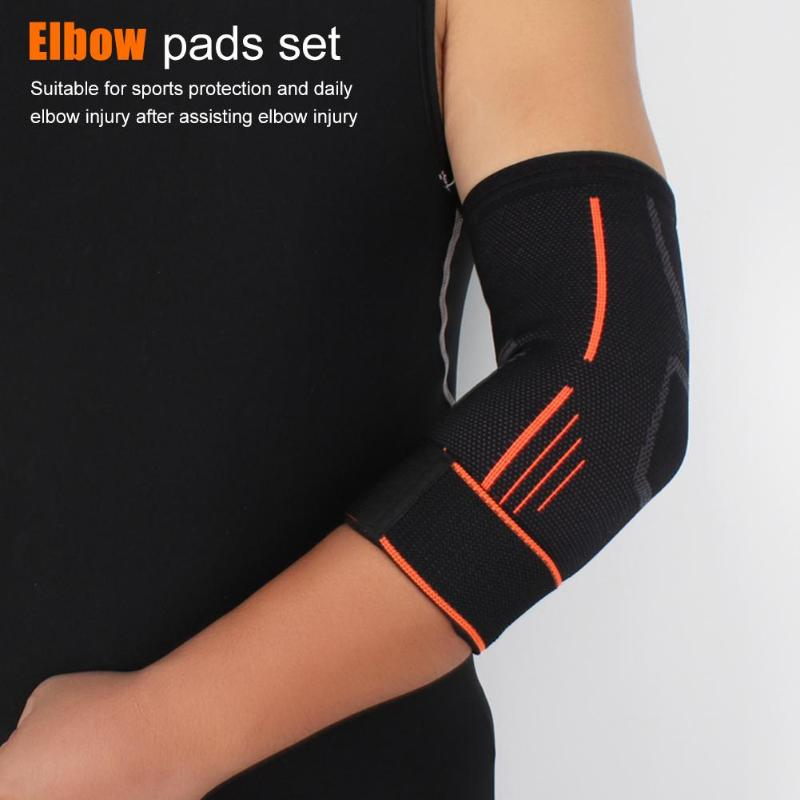 1 Pair Elbow Support Tourmaline Adjustable Elbow Supports Braces Belts Elbow Pads Arthritis Protector Self-heating Health Care-ebowsos