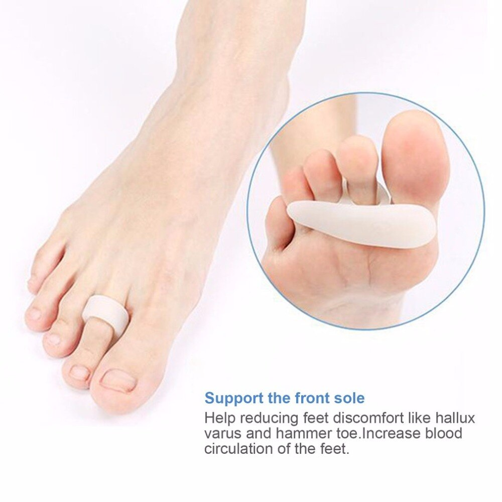 1 Pair Single Hole Hallux Valgus Foot Pain Relief Professional Silicon Toe Separator Toe Pad Cramp Hammer Toe Orthotics Top Sale - ebowsos