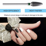 1 Pcs Large Cone Shape Carbide Nail Drill Bit Electric Nail File Drill Bit Coarse Carbide Drill 3/32 inches - ebowsos