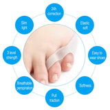 1 pair Silicone Small Toe Separator Eases Foot Pain Finger Toe Guard Cushion Correction Health Foot Care Tool - ebowsos