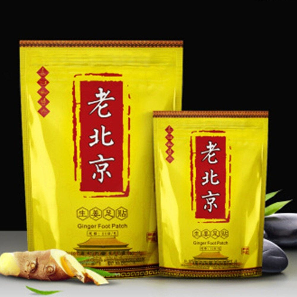 10 x Foot Patch Old Beijing Detox Foot Pads Health Foot Patch Feet Cleansing Herbal Adhesive - ebowsos
