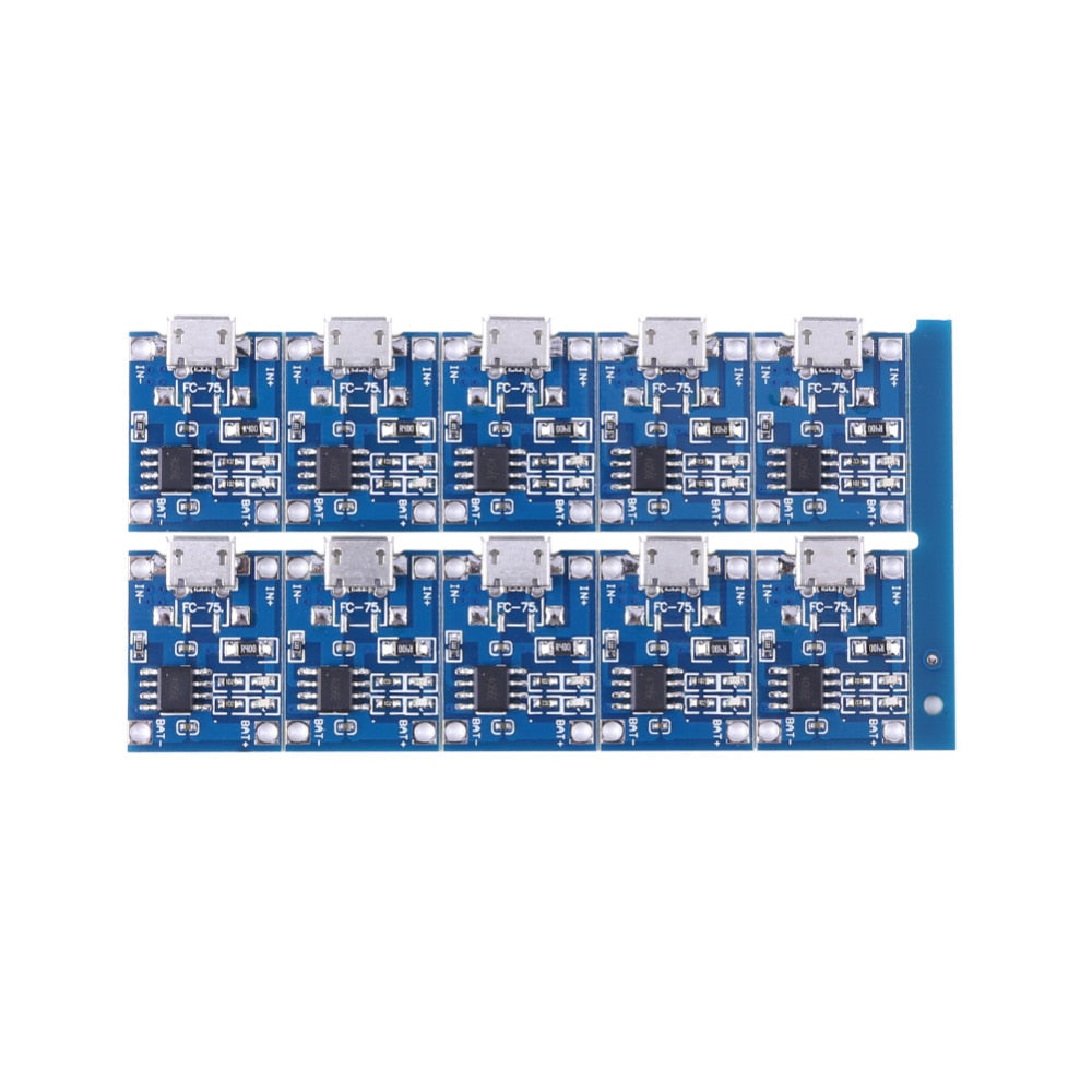 10Pcs 5V Mini USB 1A TP4056 Lithium Battery Charging Board Power Charger Module - ebowsos