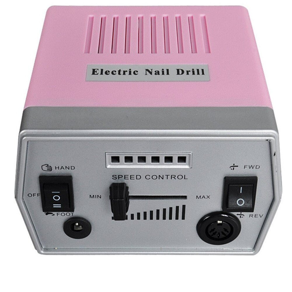110V Electronic Nail Care 20000RPM Electric Nail Art Drill Grinding Machine Hot Sale - ebowsos