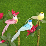 12pcs Foam Artificial Birds DIY Scrapbooking Wreath Fake Flower Wedding Decor - ebowsos