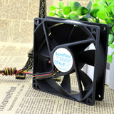 For Delta AFC0912B 9025 12V 0.60A 9CM 9cm 3-wire temperature control CPU case Fan - ebowsos