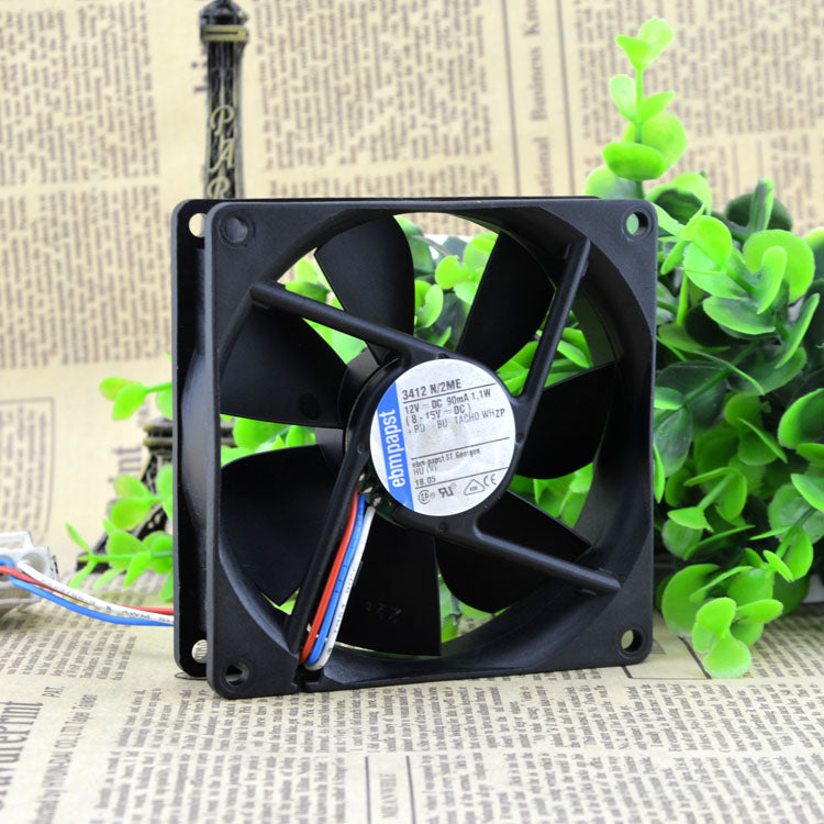 For brand new original German ebmpapst TYP 3412 N/2ME 12V 1.1W fan durable 10 years - ebowsos