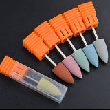 1PC Head Rubber Silicon Nail Drills Bit Flexible Polisher Manicure Machine Nail Accessories Nail File Polish Tools - ebowsos