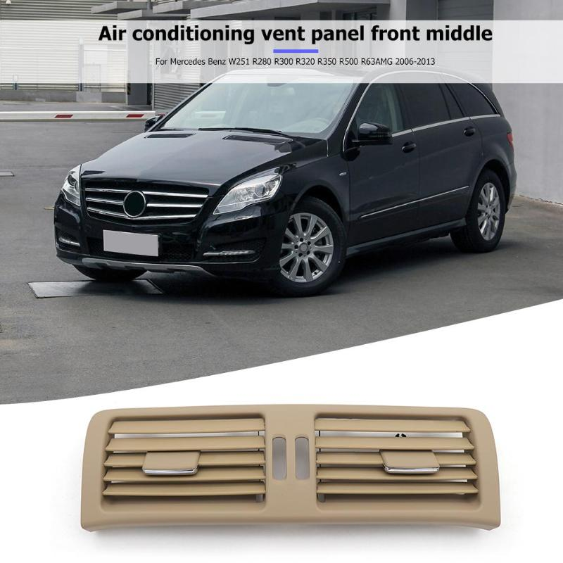 1Pcs Front Center Console A/C Air Vent Outlet Panel Grille Cover for W251 R280 R300 R320 R350 R500 R63AMG 2006-2013 Car Styling - ebowsos
