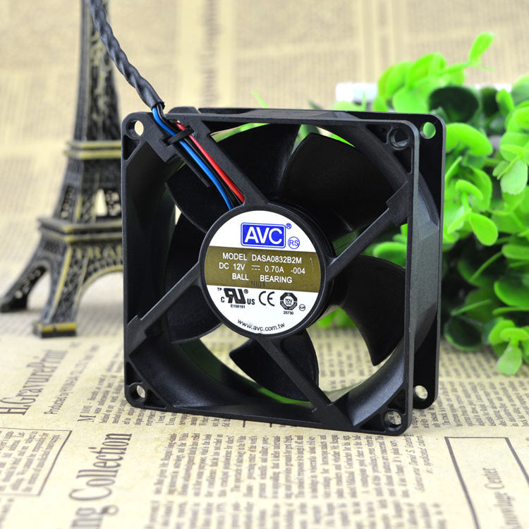 For Taiwan AVC 8032 12V 0.7A 8CM/cm large air volume double ball fan DASA0832B2M - ebowsos