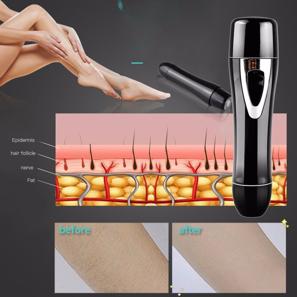 2 in 1 Mini Facial Nose Hair Removal Razor Female Women USB Rechargeable Painless Armpit Bikini Shaving Shaver Hair Remover - ebowsos