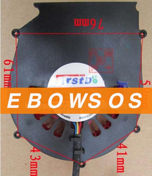 FirstD 9238 FD9238M12D 12V 0.7A 4Wire Video Fan,Cooling - ebowsos