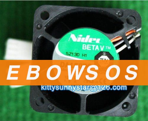 NIDEC 4056 DA150DC B35515-58GIG 12V 1.5A Server Fan,High Speed Fan,Violent Fan,Double Fan,Cooling Fan - ebowsos