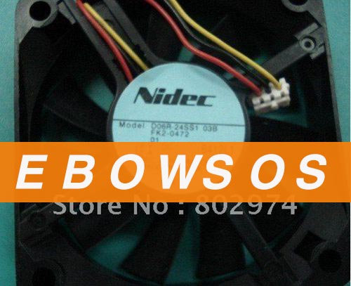Free shipping NIDEC 6cm  24V 0.12A D06R-24SS1 03B FK2-0472 3wire Cooling Fan,By express - ebowsos