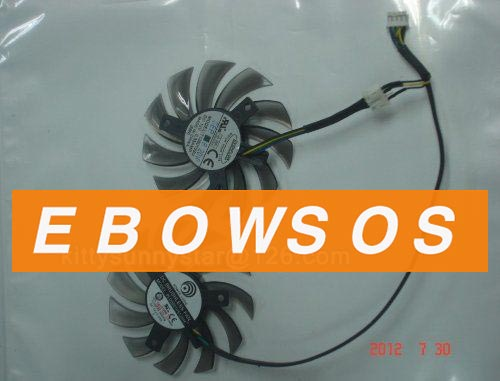 Power Logic 8010 PLD08010S12HH T128010SU 12V 0.35A Graphic card Fan,VGA Fans,Cooling Fan  a set of 2pcs - ebowsos