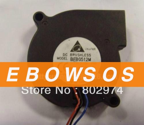 Free shipping Delta 5015S BFB0512M 12V 0.15A 3Wire Cooling Fan - ebowsos