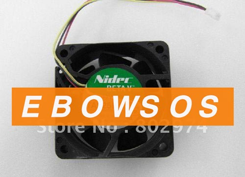 NIDEC 6025 TA225DC 12V 0.14A E34386-57 3Wire Cooling Fan - ebowsos