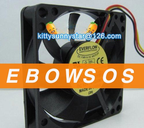 EVERFLOW 7015 R127015BL 12V 0.12A Cooling Fan - ebowsos