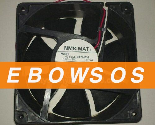 NMB 12038 4715KL-04W-B39 12V 0.72A for SUN E450 540-2840 Server Fan,cpu fan,Cooling Fan - ebowsos