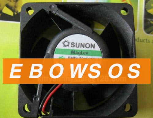 SUNON 6025 PMD1206PTV1-A 12V 4.3W 2wire Cooling Fan - ebowsos