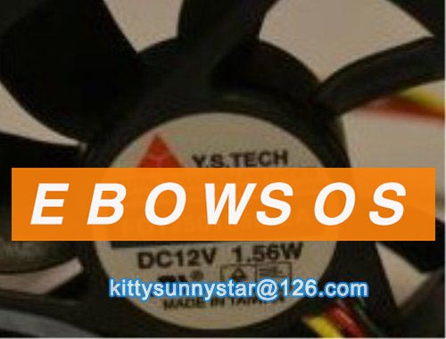 Y.S.TECH 5015 FD1250155B-2A 12V 1.56W 3Wire Cooling Fan - ebowsos