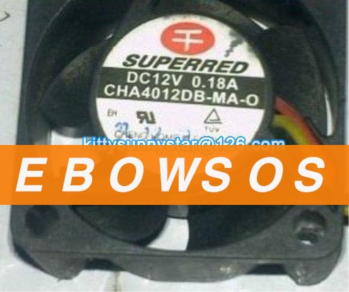 SUPERRED 4020 CHA4012DB-MA-O 12V 0.18A Cooling Fan - ebowsos