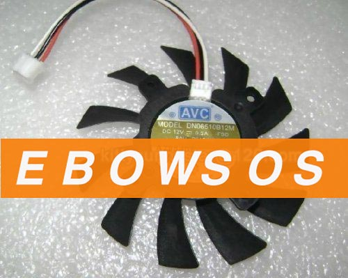 AVC DN06510B12M 12V 0.2A 3Wire For ATI 9800xt X800 Graphic Card Fan,ATI Fans,VGA Fan - ebowsos