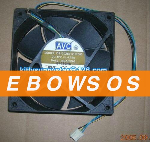 AVC 12025 DS12025B12HP005 12V 0.75A Ball Bearing Fan,Server Fan,Computer Fan,Cooling Fan - ebowsos