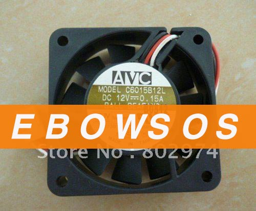 AVC 6015 C6015B12L 12V 0.15A Ball Bearing Fan,Cooling Fan - ebowsos