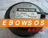 San Ace C100 10020 XF-36405 48V 0.22A 4Wire DC Centrifugal Circle Shape Fan,Cooling Fan - ebowsos