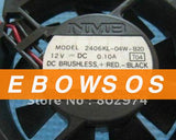 NMB 6015 2406KL-04W-B20 12V 0.1A 2Wire Cooling Fan - ebowsos