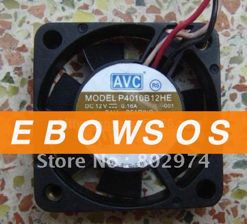 AVC 4010 P4010B12HE 12V 0.16A 3Wire Ball Bearing Fan,Server Fan,Cooling Fan - ebowsos