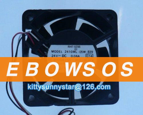 NMB 6025 2410ML-05W-B39 24V 0 08A For Fanuc P/N:A90L-0001-0508 CPU Cooling  Fan