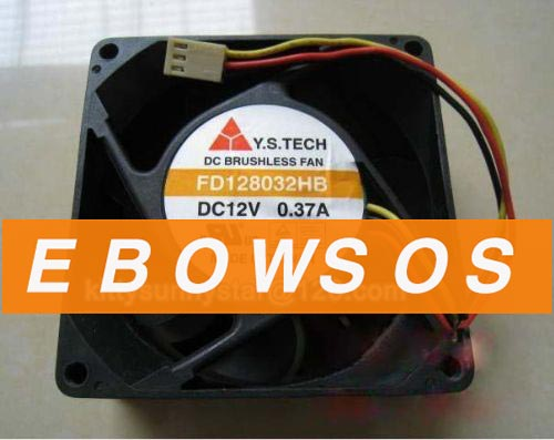 Y.S.TECH 8032 FD128032HB 12V 0.37A Cooling Fan - ebowsos
