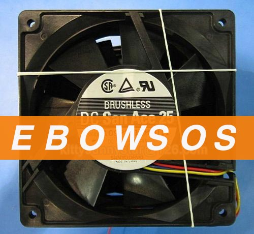 SANYO 12025 109P1212M4011 12V 0.14A 3Wire Cooling Fan - ebowsos