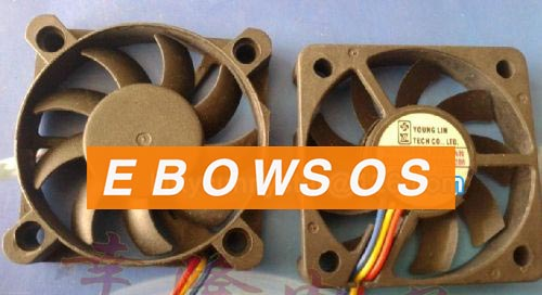 Young Lin 5010 DFC501012M 12V 1.8W 3Wire Cooling Fan - ebowsos