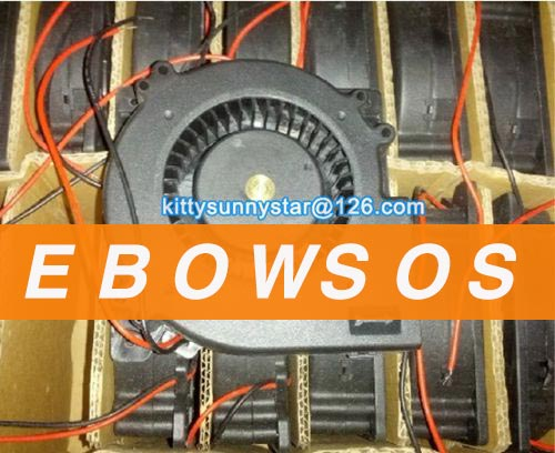 RUNDA 12032m 12032H24 24V 0.35A 2Wire Turbo Fan,Cooling Fan - ebowsos