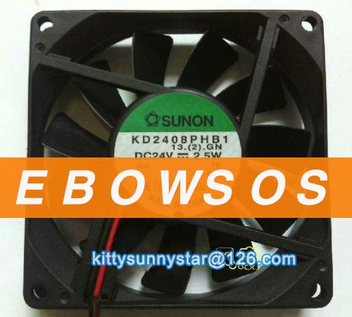 SUNON 8015 KD2408PHB1 24V 2.5W 2Wire Cooling Fan - ebowsos