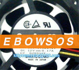 SANYO 6025 109R0612S401 12V 0.17A 3Wire Cooling Fan - ebowsos